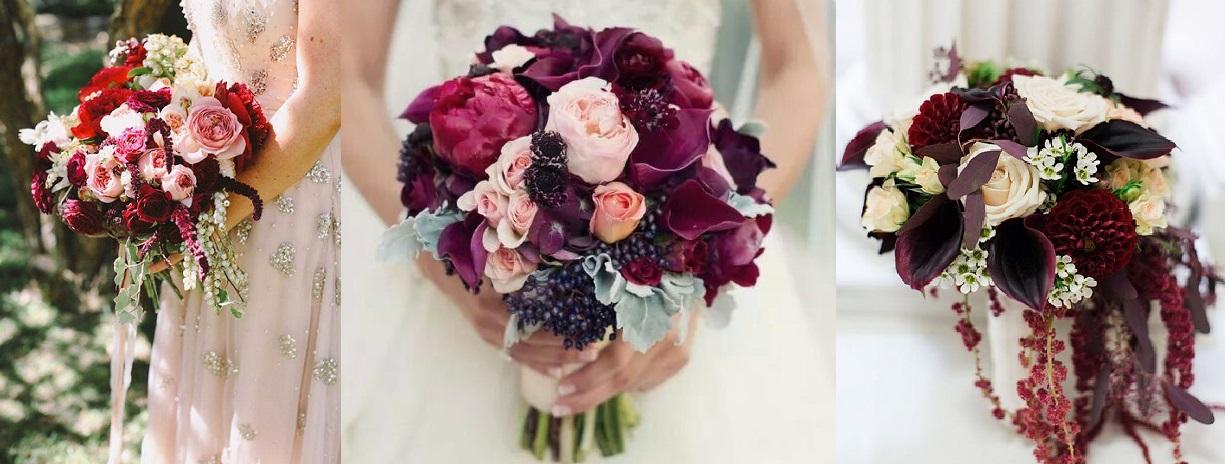 cómo incorporar el color marsala en tu boda - ethereality