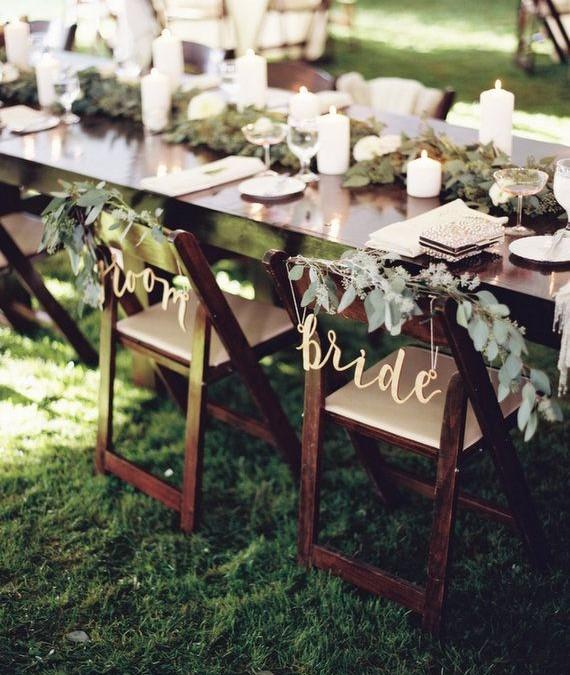 La decoración más bonita para las sillas de tu boda