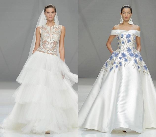 Los delicados diseños de Naeem Khan conquistan al público de la Bridal Week