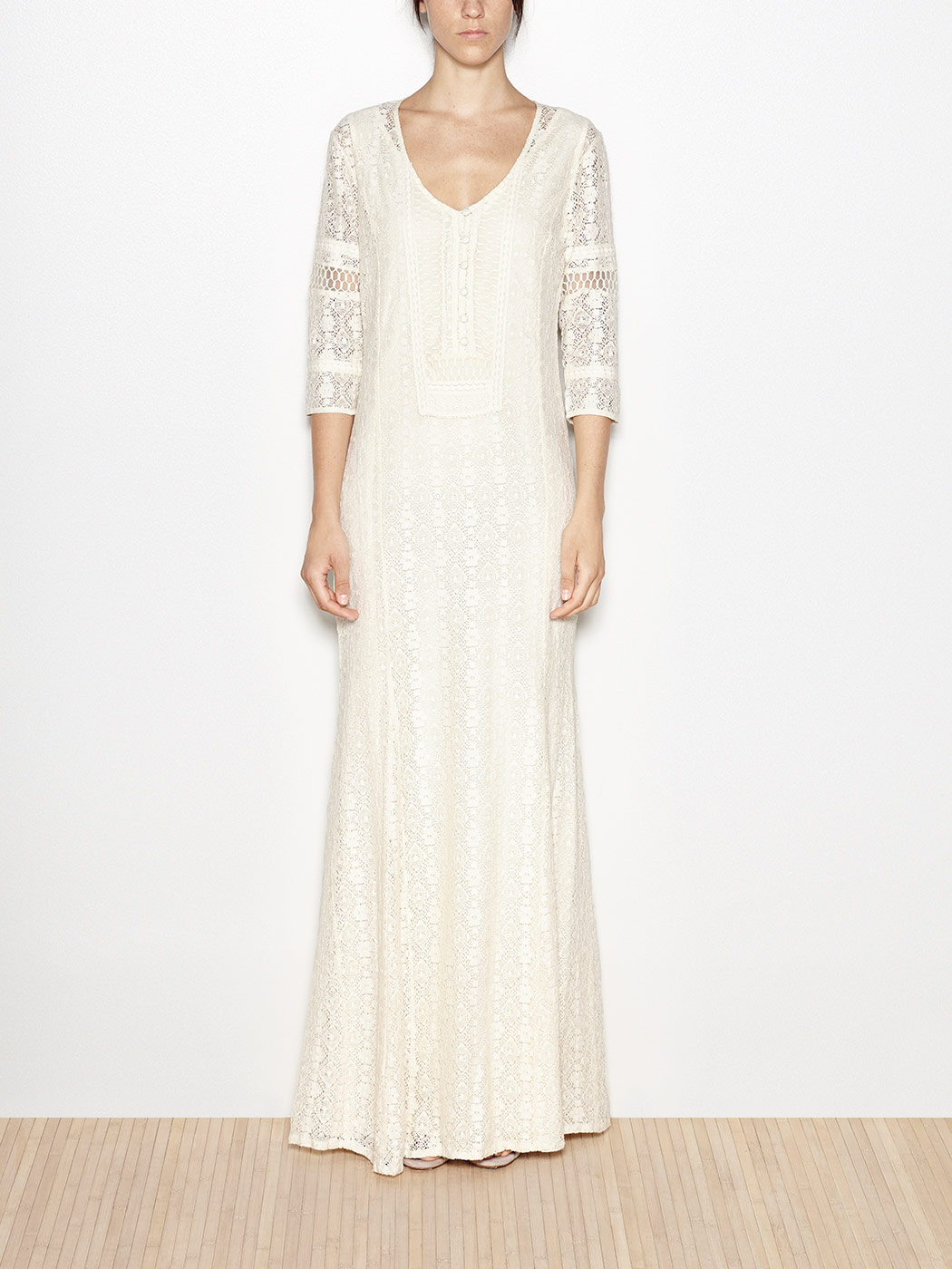 And openwork lace dress
