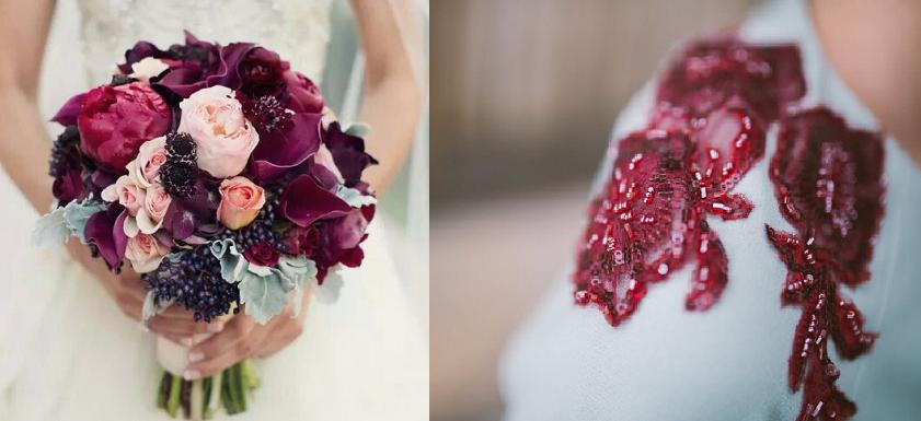 Cómo incorporar el color Marsala en tu boda