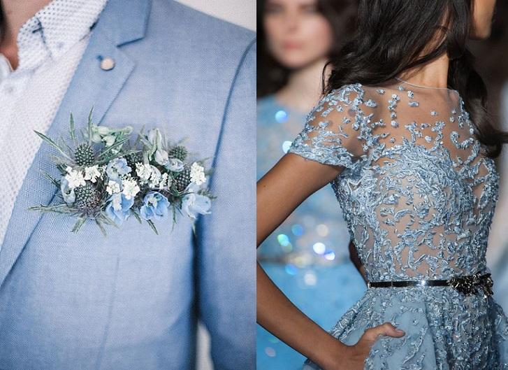 10 ideas para vestir tu boda de Azul Serenity, el color del año 2016