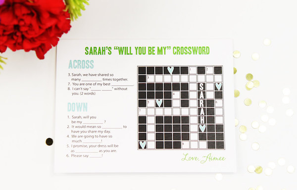 Will-you-be-my-bridesmaid-crossword-