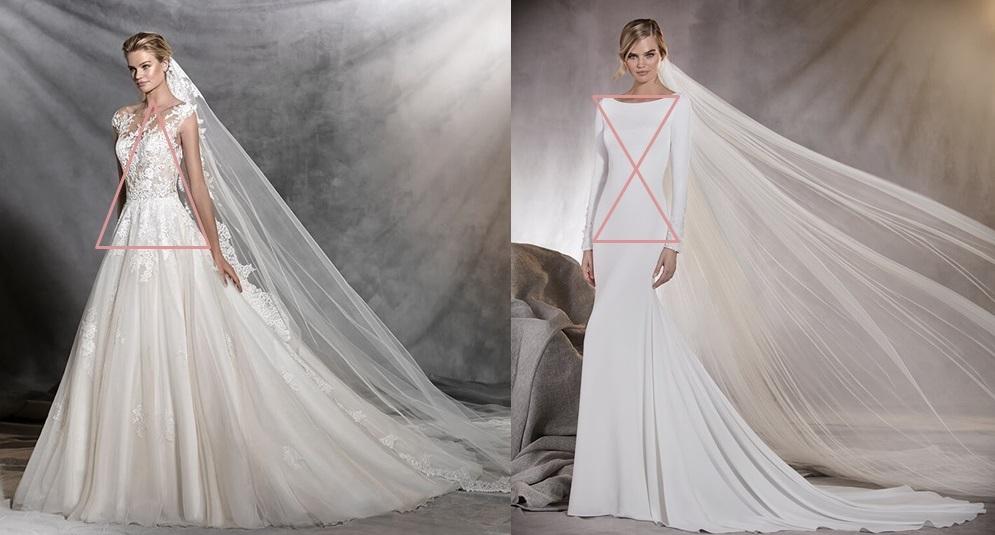 Cómo elegir tu vestido de novia según la silueta de tu cuerpo